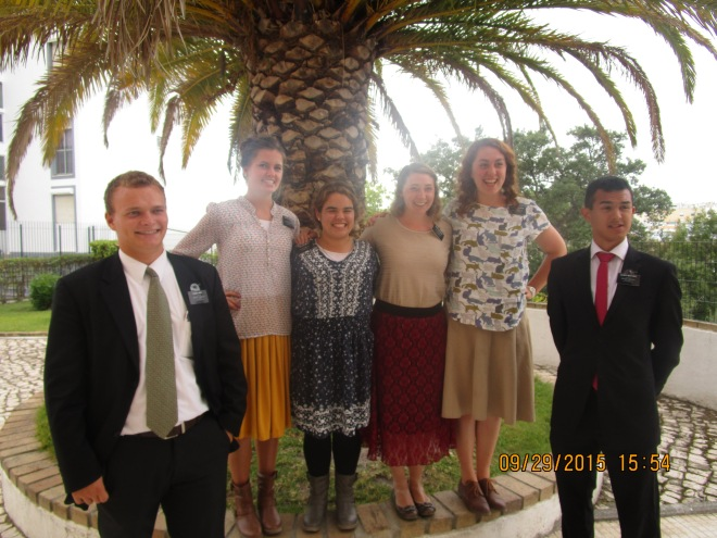 The Missionaries of Setubal. Elder Hart, Sister Neilsen, me, Sister Steagall, Sister Landbeck, Elder Martinez